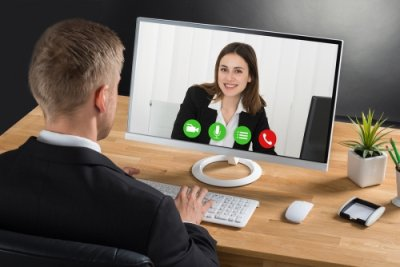 Videoconferencing for remote meetings in San Jose